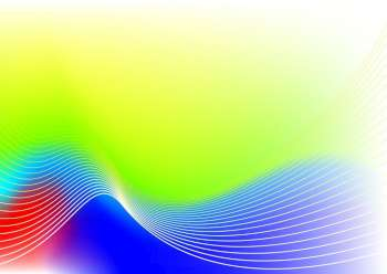 Modern rainbow abstract background with wave effect and copy space