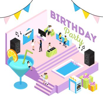You Searched For Isometric Design Concept With People At Birthday Party