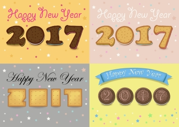 image details ing_54215_00485 happy new year 2017 cookies font numerals are as sweet cookies chocolate biscuits and crackers colorful backgrounds with