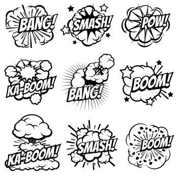 You searched for comic text sound effect icon  flat illustration of