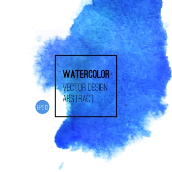 Abstract watercolor background Blue Hand drawn watercolor backdrop texture stain watercolors on wet paper Vector illustration