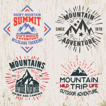 38adc2204 Mountains outdoor adventure t shirt print T shirt print design Set of  mountain outdoor adventure vintage