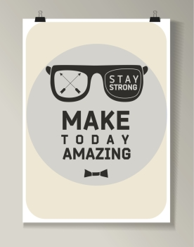 Hipster Quote Background typography with sign and symbol Funny poster