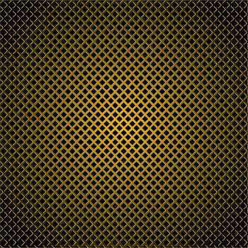 golden diamond pattern background with highlight edges and shadow