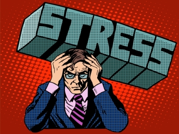 Stress problems severity businessman business concept pop art retro style Stress problems severity businessman business concept
