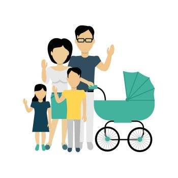 Image result for family and baby carriage clipart