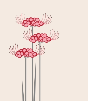 Vector flower Higanbana Vector flower Higanbana on a pink background