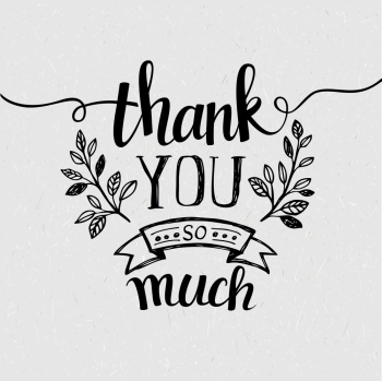 Lettering Thank you Vector illustration EPS 10 Lettering Thank you Vector illustration