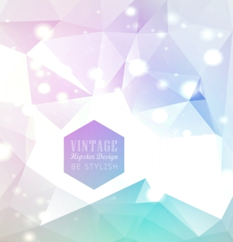 Hipster cosmic background polygonal triangles and space background