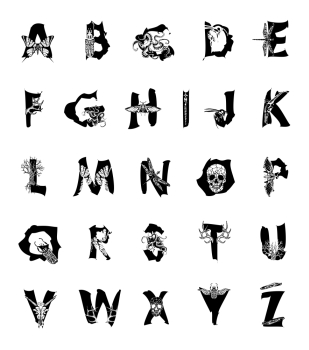 Geometric font Creative Alphabet Abstract hipster font  drawn by hand illustration