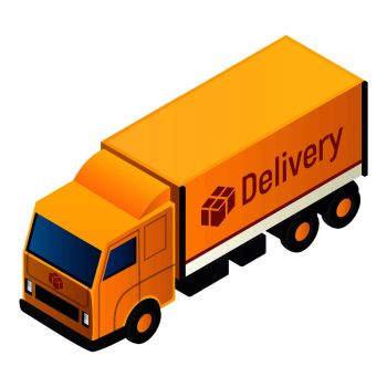 You Searched For Delivery City Van Icon Isometric Of