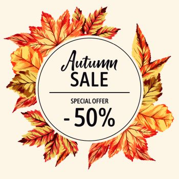 you searched for vector autumn sale banner with brights fall leaves