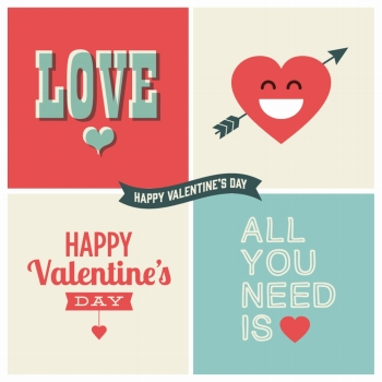 Valentine s day design element 01