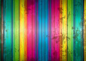 Abstract rainbow grunge background with stripes of colour