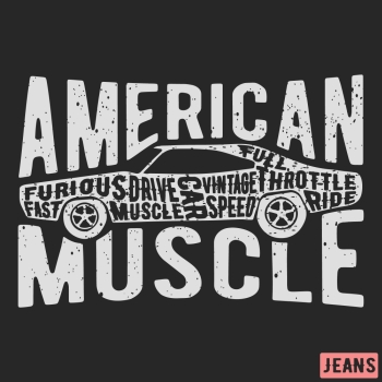 5844f2e7 T-shirt print design. American muscle car vintage stamp. Printing and badge  applique