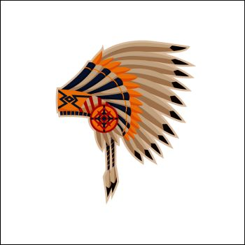 You searched for indian chief mascot head vector graphic