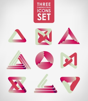 Business design elements icon set three dimensional quality icon with a lot of variety ideal for business  flayer and presentation