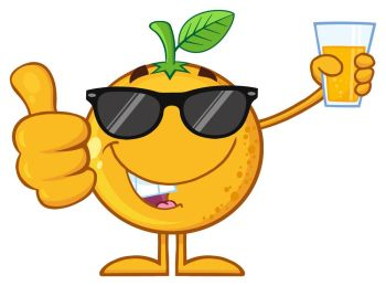 You searched for orange fruit cartoon mascot character with