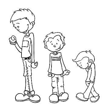 Image Details Iss 14826 00504 Simple Black And White Little Boy Grow Cartoon