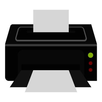 printer icon flat illustration of printer vector icon for web printer icon cheap royalty free subscription stock photos vector illustrations fonts printer icon flat illustration of