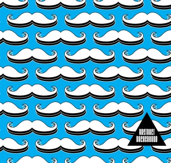 Abstract background with mustache for design can be used for invitation congratulation