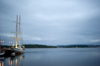 Oslo harbor in the early morning Norway