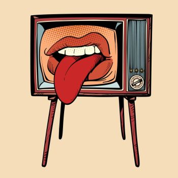 Image Details Ist 13301 01969 Female Tongue Sticking Out Comic Cartoon Pop Art Retro Vector Drawing Female Tongue Sticking Out