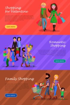 You searched for family shopping banners set  father and