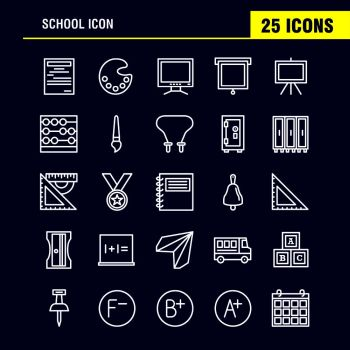 You searched for school icon line icon pack for designers and