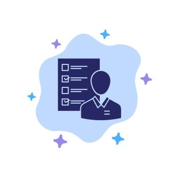 Job Search Blue Icon On Abstract Cloud Background Cheap Royalty
