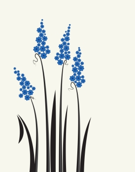 Vector meadow flowers Vector abstract decorative meadow flowers on a white background