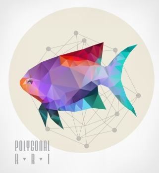 Abstract polygonal beetle Geometric hipster illustration low poly illustration Ladybird polygonal