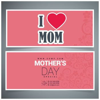 Happy Mothe s day design with creative typography vector