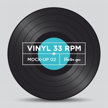 Vinyl record 33 RPM mock up