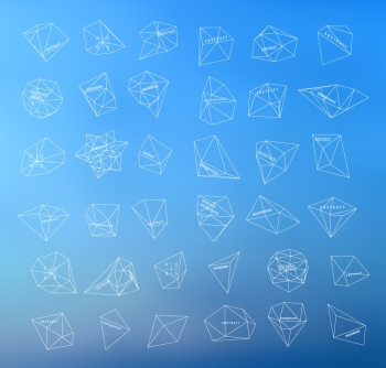 Hipster thin line cosmic background polygonal triangles and space background