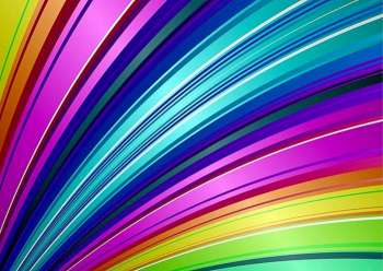 Brightly colored rainbow background illustration with stripe pattern