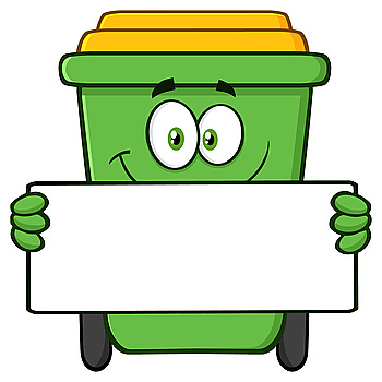 You Searched For Happy Green Recycle Bin Cartoon Character