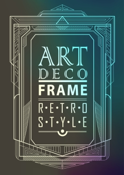 Art deco geometric vintage frame can be used for invitation congratulation