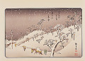 Utagawa Hiroshige  Edo kinkou hakkei no uchi  Eight Views in the Neighbourhood of Edo  Evening Snow at Asukayama