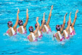 13th FINA World Championship Roma 09 China National Team  CHN   JULY 18  2009 - Synchronised Swimming : Synchronised Swimming Team Technical Final during 13th FINA World Championship Roma 09 at the Stadio del Nuoto Sincronizzato in Rome  Italy.  Photo by Enrico Calderoni/AFLO SPORT   0391