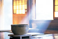 Large Ceramic Bowl In A Japanese Style House