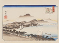 Utagawa Hiroshige  Eight Views of Omi  The distant view of Awazu  Weather Clearing after Storm at Awazu