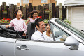 Asian Family In a Car