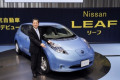 uZY AEV  S   t  br 12 Z20 u   c   a     December 3  2010  Yokohama  Japan - Nissan Motor Co. Chief Operating Officer Toshiyuki Shiga unveils its electric vehicle Leaf at its head office in Yokohama on Friday  December 3  2010. The 100% electric  zero-emission vehicle goes on sale in Japan from December 20. Nissan sets the price for the electric vehicle at 3.76 million yen  US 44 820   adding that customers can receive a government subsidy of up to 780 000 yen per vehicle. Nissan said it has installed charging equipment at all its 2 200 domestic dealers in Japan so drivers will be able to charge the car when the battery runs low.  Photo by AFLO   3609  -mis-