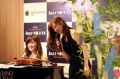 Japanese violinist Junko Makiyama and pianist Riyoko Takagi perform during Jazz Nights at Mitsukoshi Ginza July 1  2016  Tokyo  Japan - Japanese violinist Junko Makiyama  R  and pianist Riyoko Takagi smile at an interval of their jazz session at the Mitsukoshi department store in Tokyo rsquo;s Ginza district on Friday  July 1  2016. Their public recording of FM broadcasting will be on air on July 24.   Photo by Yoshio Tsunoda/AFLO  LWX -ytd-