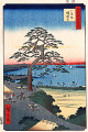 Utagawa Hiroshige  One Hundred Famous Views of Edo  The Eight View Slope and the Armor Hanging Tree