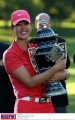 GOLF INVITA WIE Michelle Wie  USA   NOVEMBER 15  2009 - Golf : Michelle Wie of the United States celebrates with the trophy after winning the Lorena Ochoa Invitational Presented by Banamex and Corona at Guadalajara Country Club in Guadalajara  Mexico.  Photo by MEXSPORT/AFLO   0395