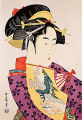 Tousei Odoriko Soroi  Musume Doujouji Temple  Dance of the Heron Maiden  Kitagawa Utamaro  Japanese Wood Block Print