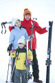 Family going for skiing