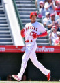 MLB: Los Angeles Angels rsquo; Shohei Ohtani in action Los Angeles Angels designated hitter Shohei Ohtani crosses home plate to score on an RBI double by Luis Valbuena  not pictured  during the Major League Baseball game against the Texas Rangers at Angel Stadium in Anaheim  California  United States  June 3  2018.  Photo by AFLO